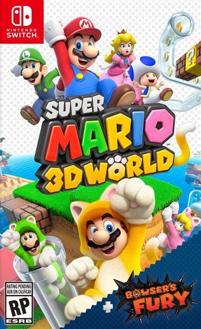 NS 超级马力欧 3D世界 + 狂怒世界 中文版